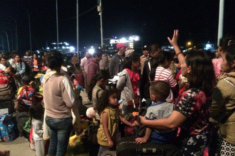 Puluhan pengungsi dari Wamena tiba di Labuan Bajo
