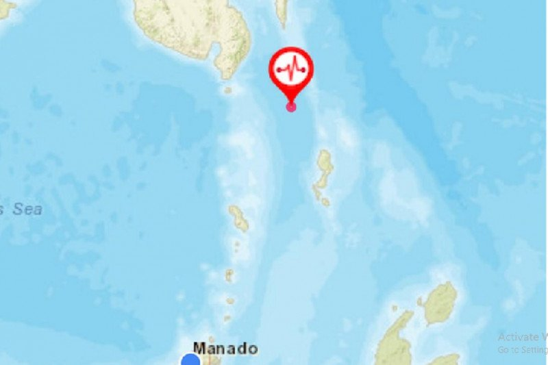 Gempa magnitudo 5,6 guncang barat laut Melonguane Sulut