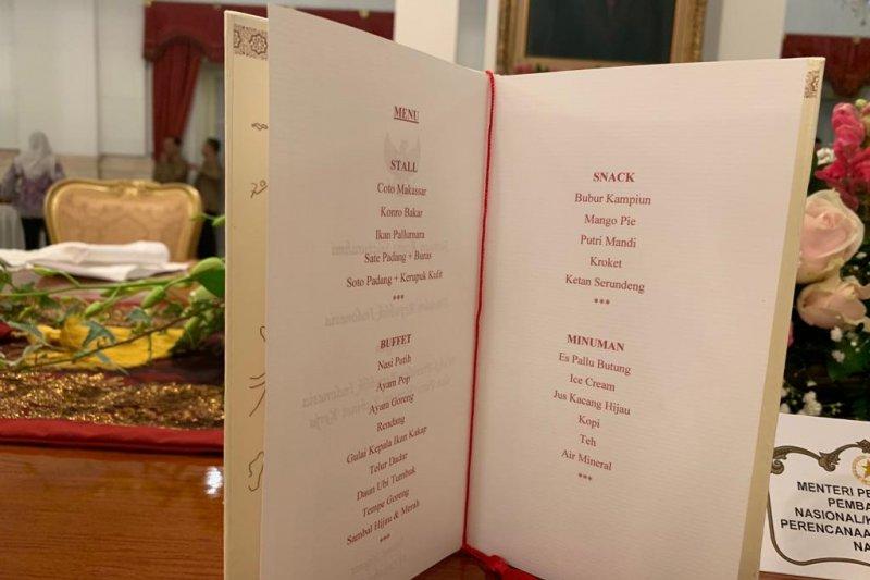 Ini menu Kuliner dalam silaturahmi terakhir Kabinet Kerja