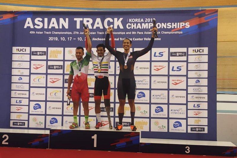 Muhammad Fadli juara Asia balap sepeda nomor Individual Pursuit di Korsel