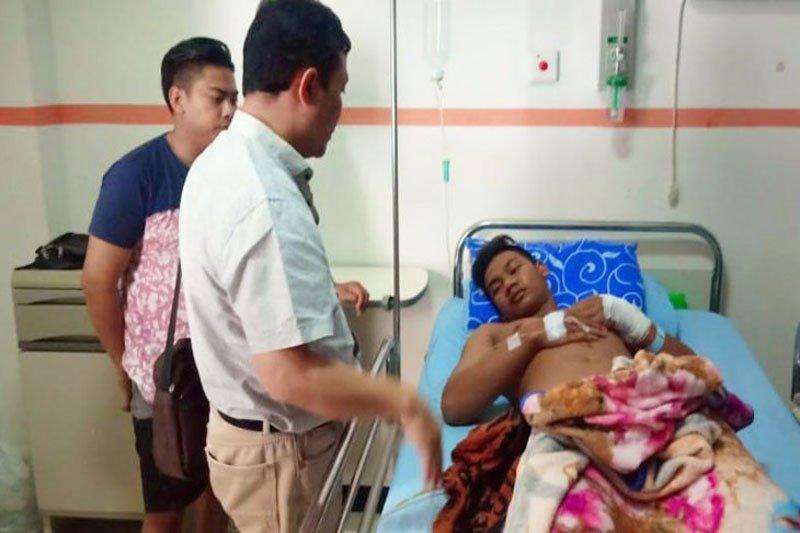 Anggota Polisi tembak warga karena diserang dengan gunting