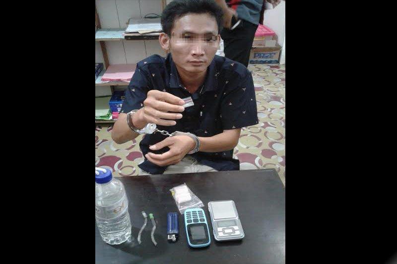 Polisi tangkap seorang pengedar sabu di barak Jalan Akasia