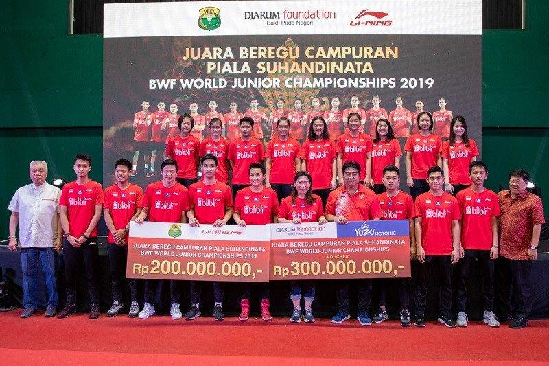 Juara World Junior Championships 2019 dapat bonus