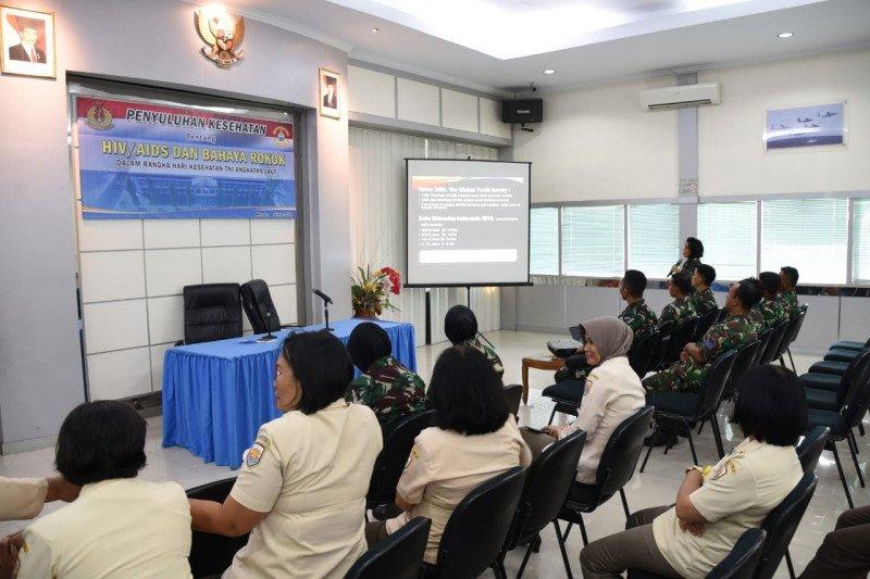 Personel Lantamal VIII Manado dapat penyuluhan bahaya rokok