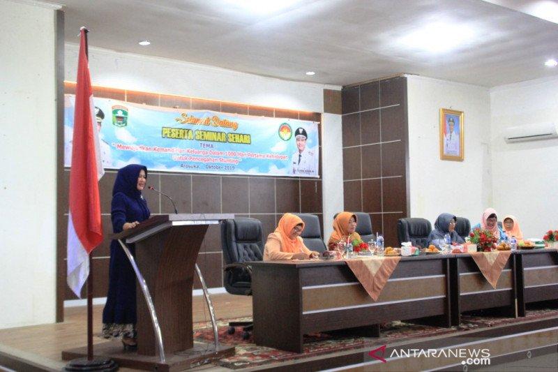 Dharma Wanita Kabupaten Solok gelar seminar pencegahan Stunting