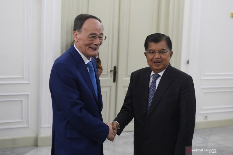 Chinese Vice President Qishan pays courtesy call on Kalla