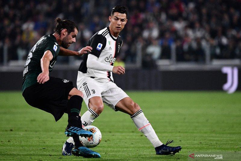 Juventus jauhi kejaran Inter setelah tundukkan Bologna 2-1