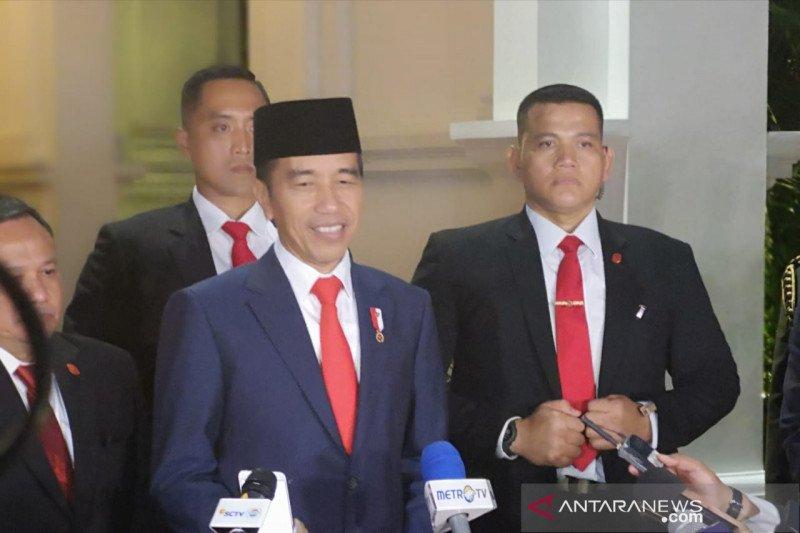 Jokowi apresiasi kehadiran pimpinan dan wakil negara sahabat saat pelantikan