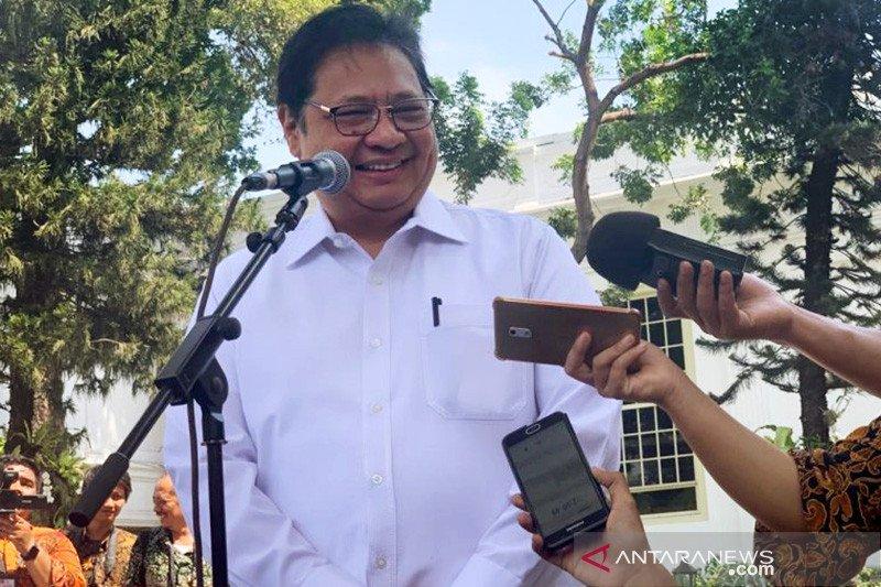 Menteri Perindustrian Airlangga Hartarto miliki total kekayaan Rp81,5 miliar