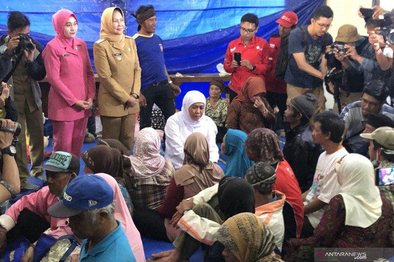 Khofifah temui pengungsi korban angin kencang Kota Batu