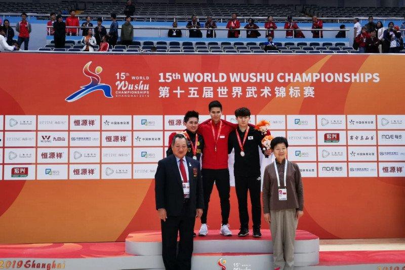 Atlet Indonesia Edgar Xavier sabet emas kejuaraan dunia wushu di China
