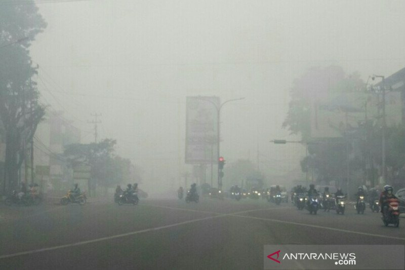 Potensi hujan kurang, Intensitas asap di Kota Palembang berpotensi meningkat
