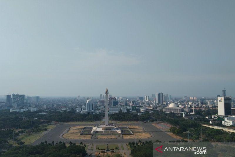 Cuaca cerah sapa Jakarta di Senin pagi pascapelantikan presiden
