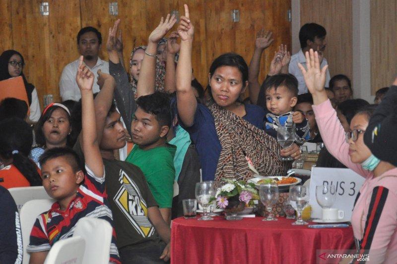 Pengungungsi Wamena tiba di kota Medan
