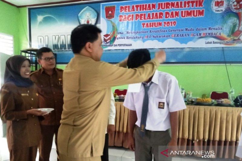 Dinas Arpus Agam gelar pelatihan jurnalistik bagi pelajar