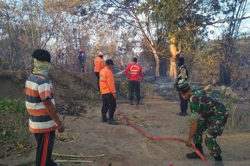 Damkar Gowa masih berusaha padamkan kebakaran hutan dan lahan