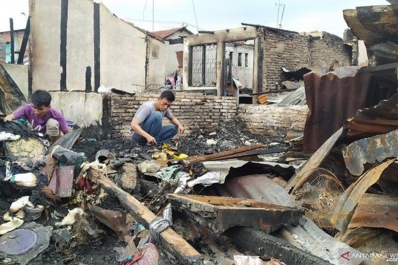 Kondisi terkini pascakebakaran permukiman Jalan Sentosa Lama Medan