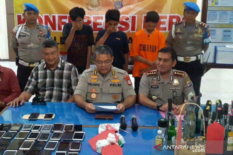 Polresta Yogyakarta amankan tiga tersangka perusakan kendaraan polisi