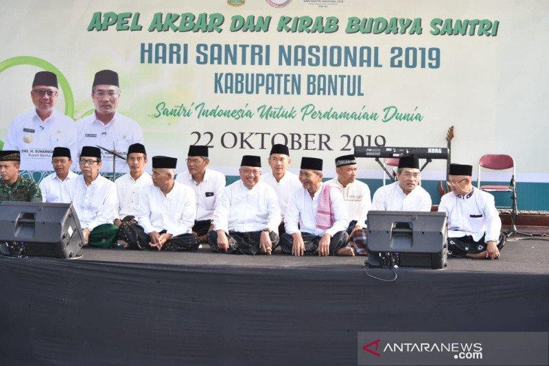 Kirab Budaya Santri di Bantul menyemarakkan Hari Santri Nasional 2019