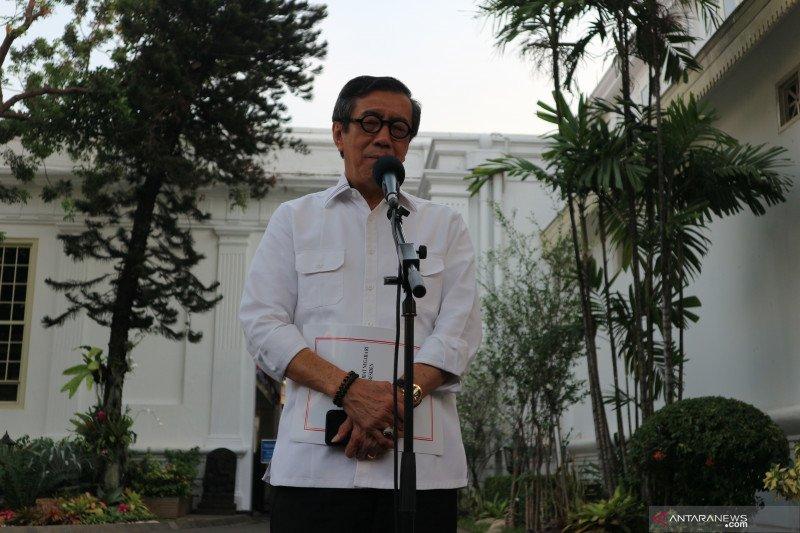 Presiden Jokowi-Yasonna Laoly tidak bicarakan soal Perppu KPK