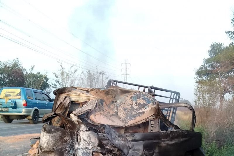 Kecelakaan truk dengan pickup di Jalinsum Lampung, 6 orang tewas di lokasi