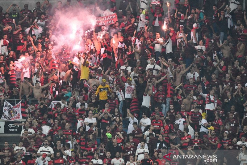 Suporter Flamengo ditahan karena rencana rusuh di Copa Libertadores