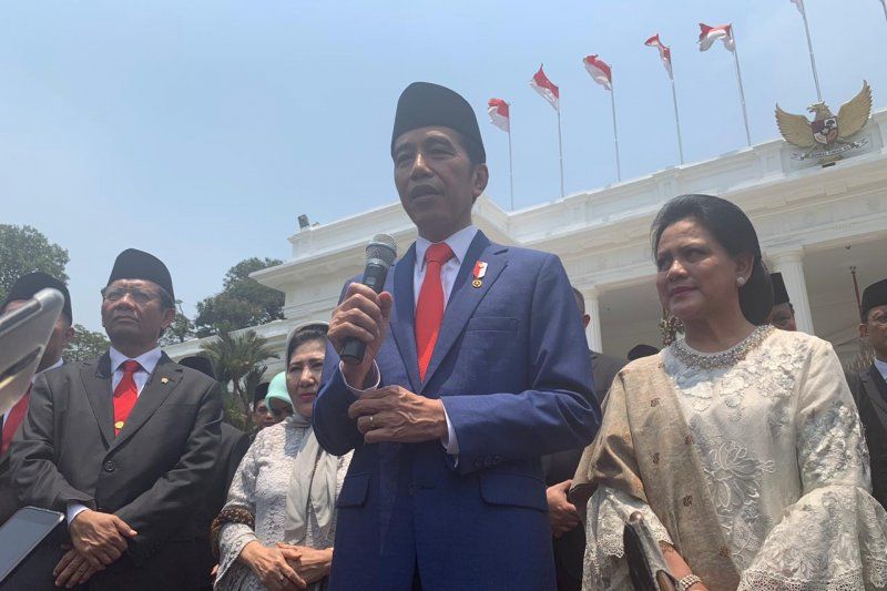 Presiden Jokowi sampaikan alasan nama Kabinet Indonesia Maju