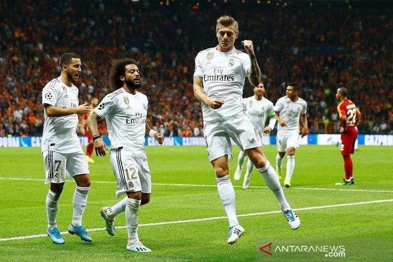Real Madrid raih kemenangan dengan gol tunggal