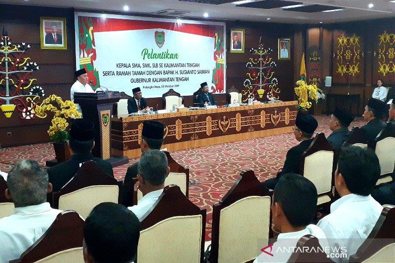 Gubernur temui kepala SMA/SMK/SLB se-Kalteng