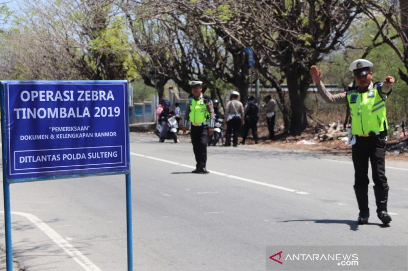 Hari pertama, Polda Sulteng menilang 435 pengendara saat Operasi Zebra