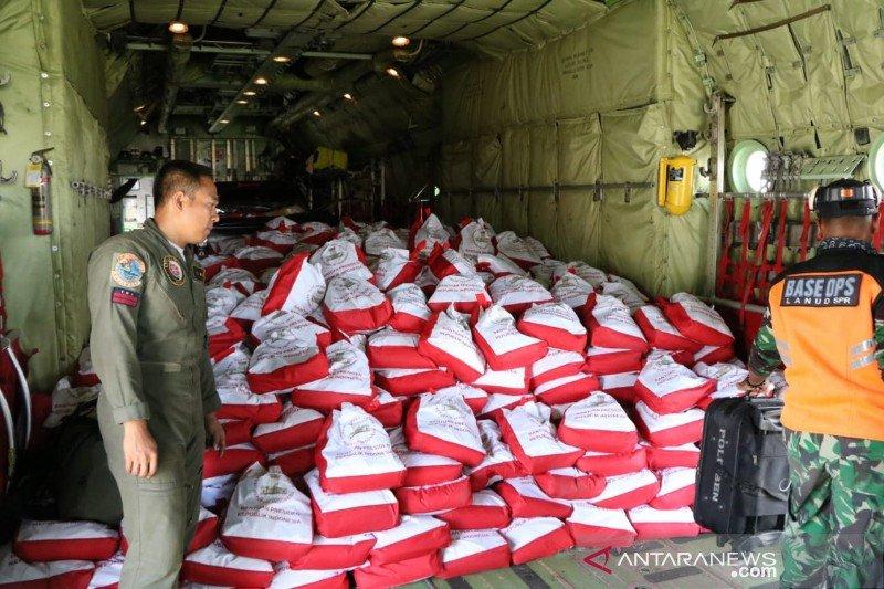 Lanud Silas Papare salurkan bantuan Presiden Jokowi ke Wamena