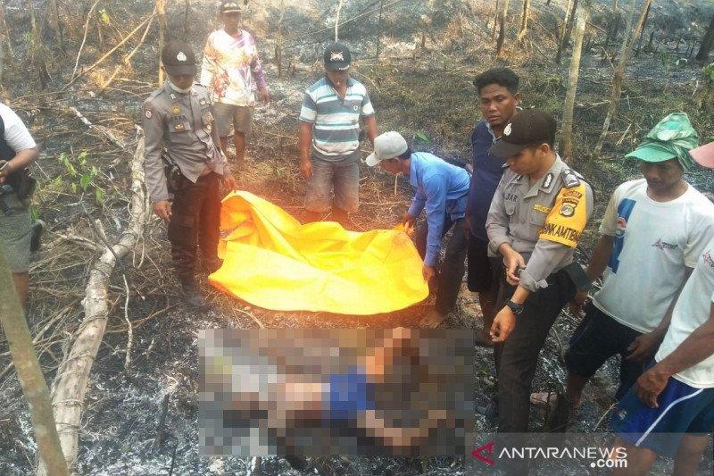 Sesosok mayat terbakar ditemukan di kebun karet Mesuji