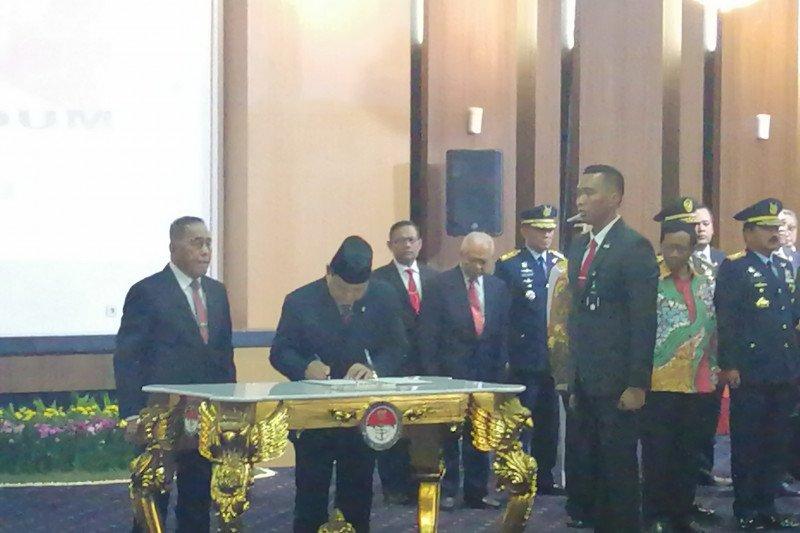 Ryamizard sertijab Menhan kepada Prabowo Subianto