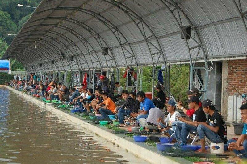 Dinas Pariwisata OKU  bangun kolam pemancingan Rantau Kumpai