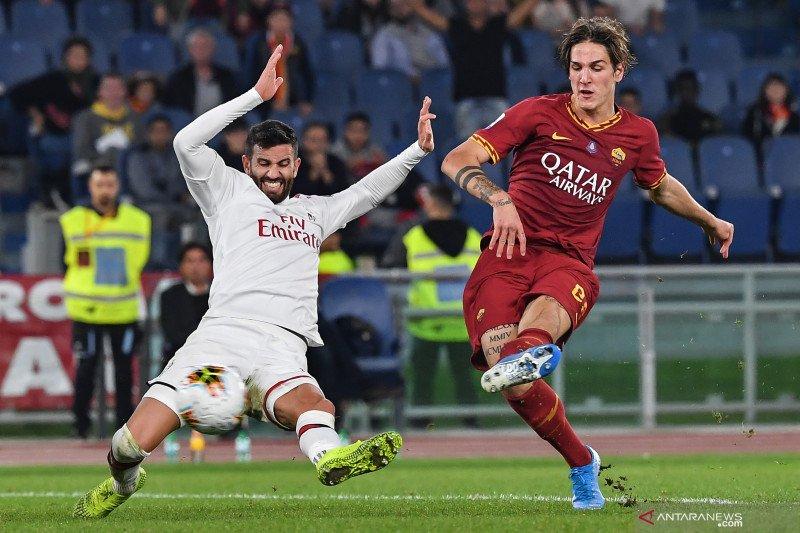 Zaniolo antarkanRoma bekap Milan 2-1