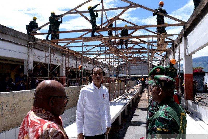 Presiden Jokowi targetkan percepatan rehabilitasi infrastruktur di Wamena