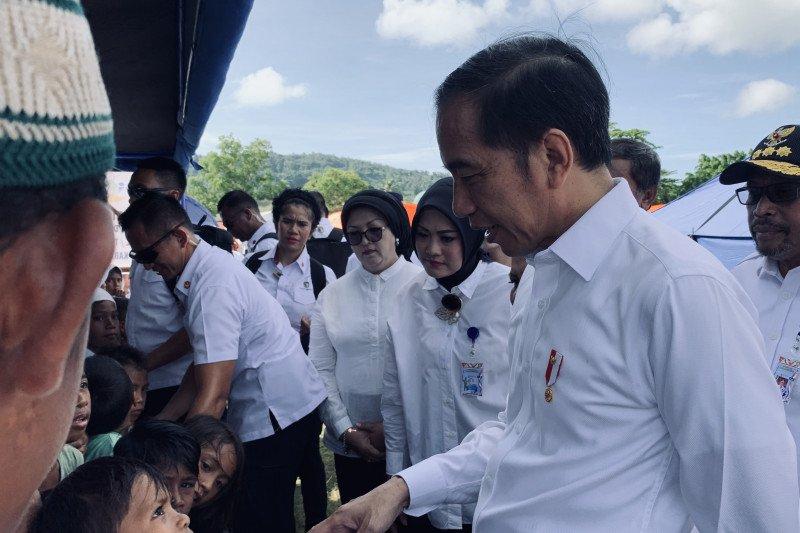 Presiden minta konsep rumah tahan gempa diterapkan di Ambon