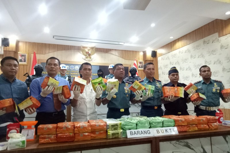 Lanal Palembang gagalkan upaya penyelundupan 79 kilogram sabu-sabu