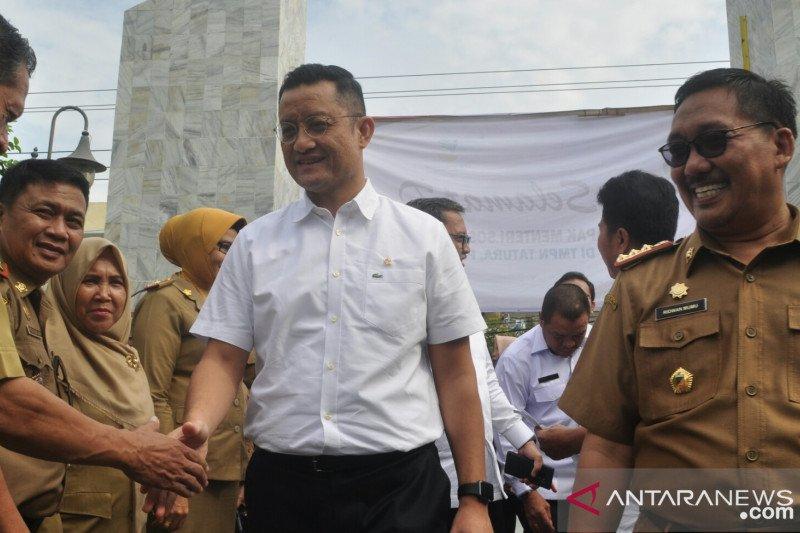 Mensos Juliari Batubara tinjau proses pemulihan pascabencana di Palu