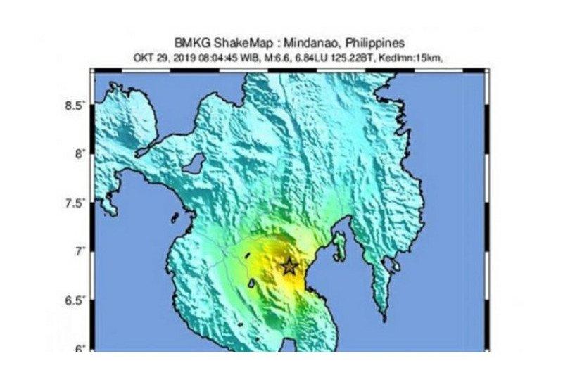 Gempa Mindanao 6,6 SR memiliki energi setara 5-8 kali bom atom