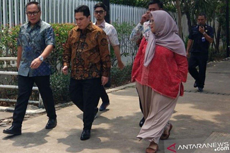 Erick Thohir kunjungi kantor Anies dengan jalan kaki