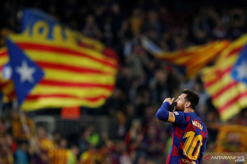 Penampilan Messi bawa Barcelona hancurkan Valladolid