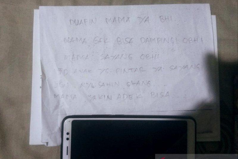 Bunuh diri, ibu muda di Pekanbaru tinggalkan surat cinta untuk anaknya