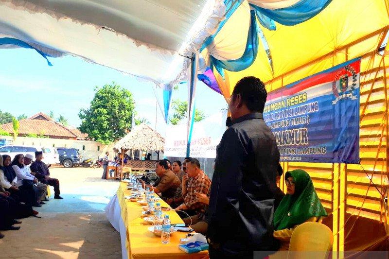 Sembilan legislator Provinsi Lampung reses di Kecamatan Labuhan Maringgai