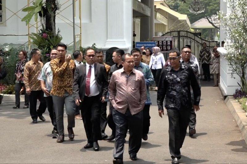 Ketua Paguyuban Masyarakat Pendatang di Papua temui Presiden Jokowi