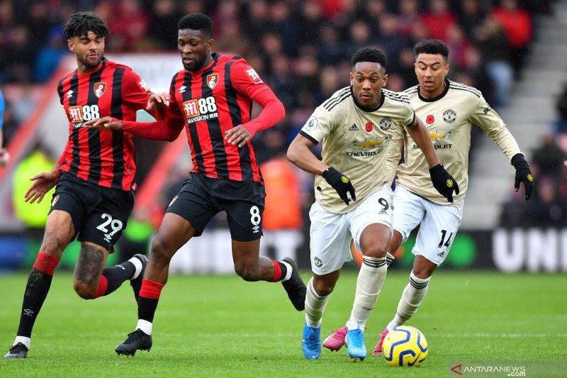 Bornemouth gagalkan tren positif Manchester United