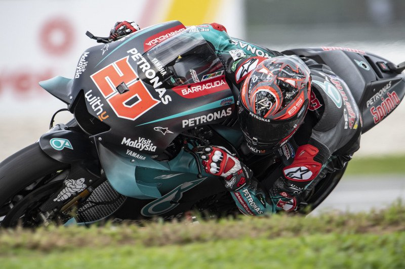 Quartararo raih start terdepan di GP Malaysia, Marquez terjatuh