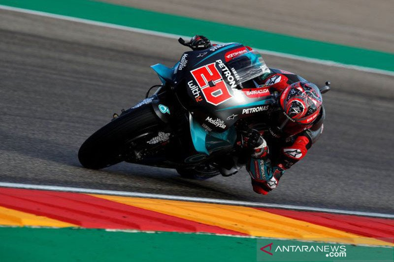 Quartararo menempati  start terdepan di Grand Prix Valencia