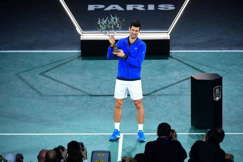 Djokovic juarai Paris Masters untuk kelima kalinya