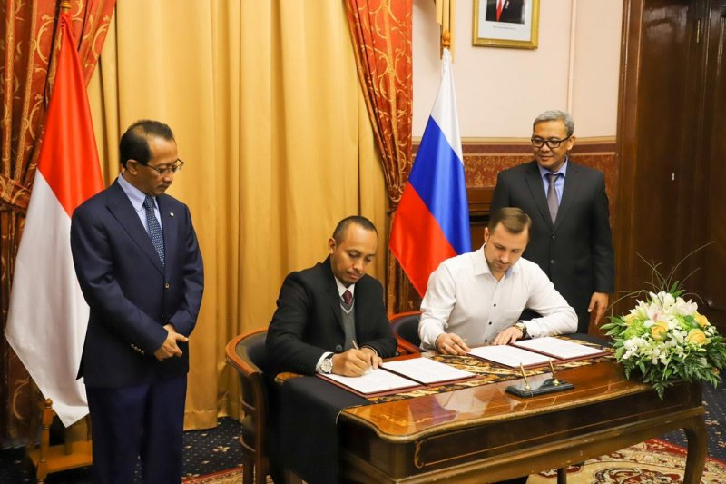 Pengusaha Kab Bogor tandatangan kontrak dengan mitranya di Rusia capai USD 768.000
